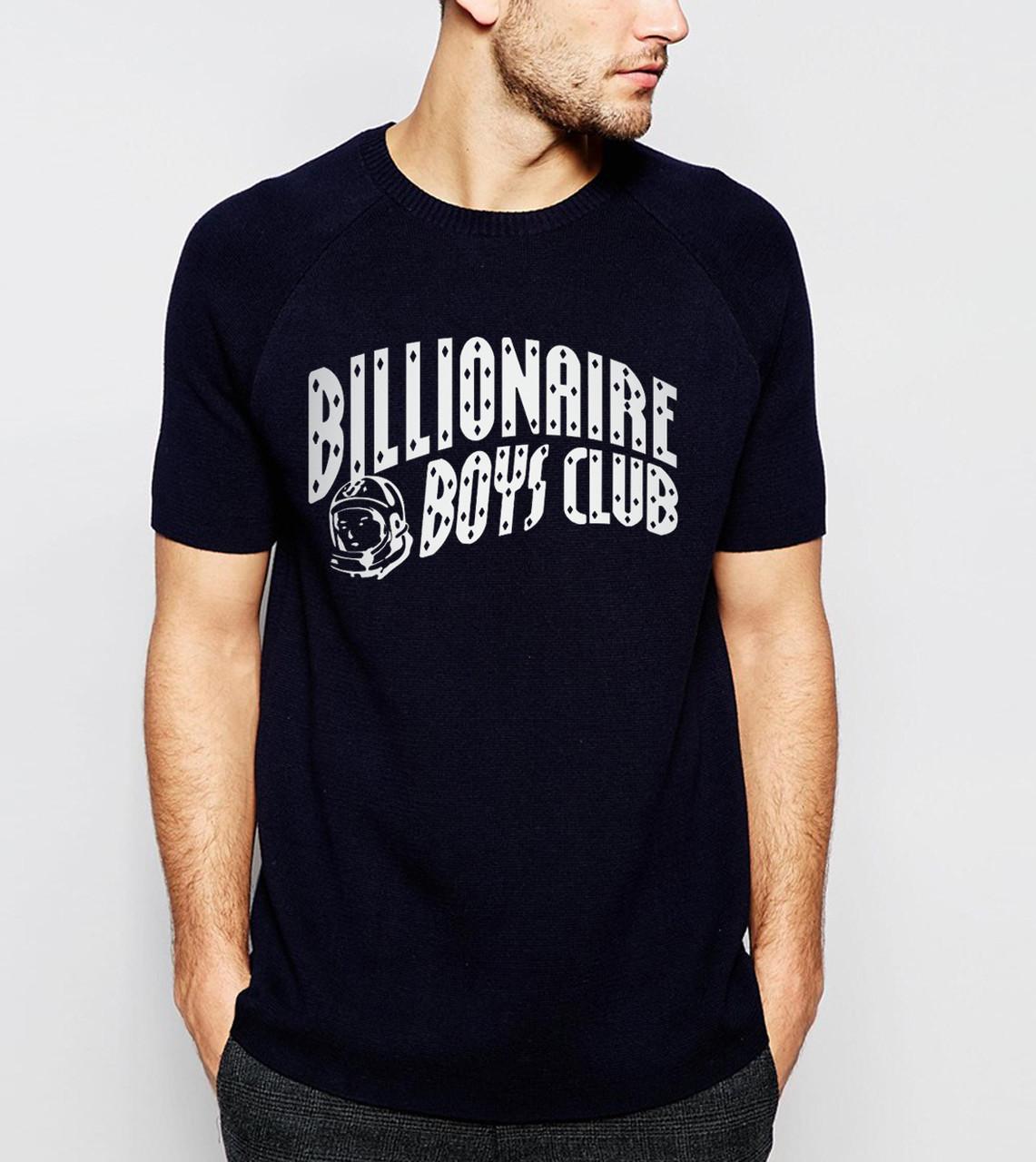 Футболкав стиле Billionaire BOYs Club темно синяя с логотипом мужская,женская,детская