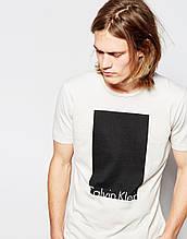 Мужская белая Футболка Calvin Klein Jeans T-Shirt with Box Logo
