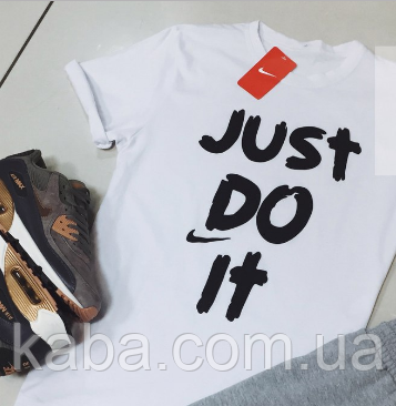 Футболка Nike | Найк Just Do It белая