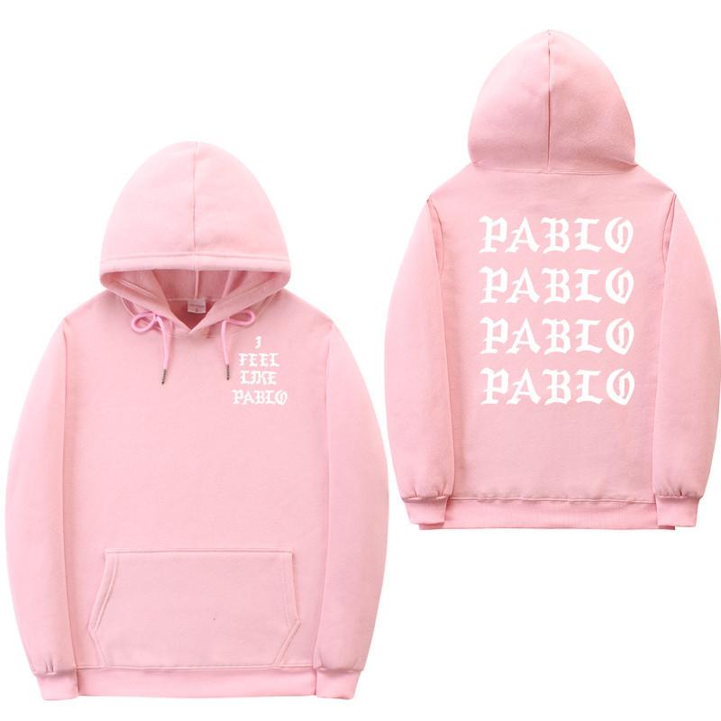 Худи Kanye West - I Feel Like Pablo розовое с логотипом, унисекс (мужское, женское, детское)