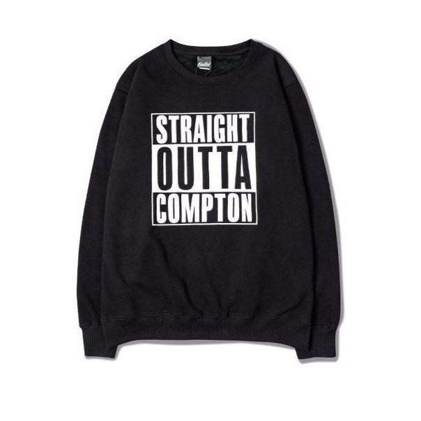 Світшот чорний чоловічий N. W. A: Straight Outta Compton | Кофта