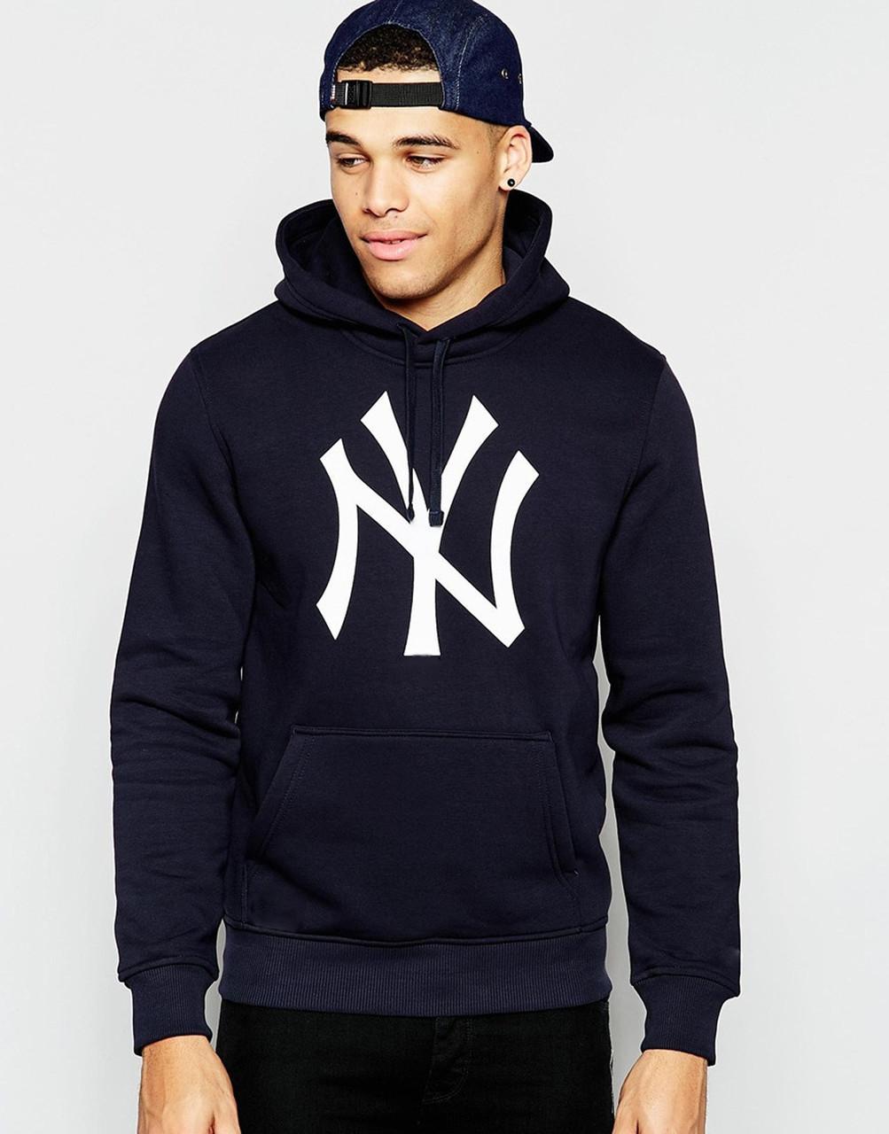 Худі чорна чоловіча New Егав стилі NEW YORK Yankees | Толстовка