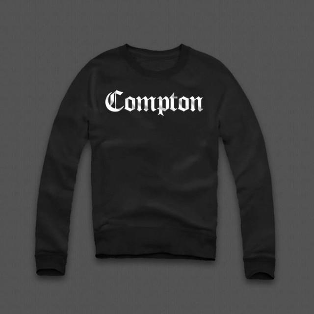 Світшот чорний чоловічий Compton | Кофта