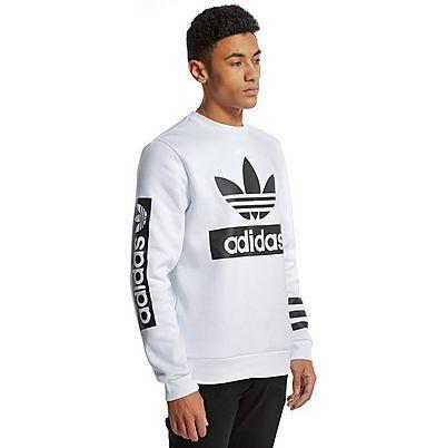 Світшот Білий чоловічий Adidas ( Адідас ) Original 3 stripes | Кофта