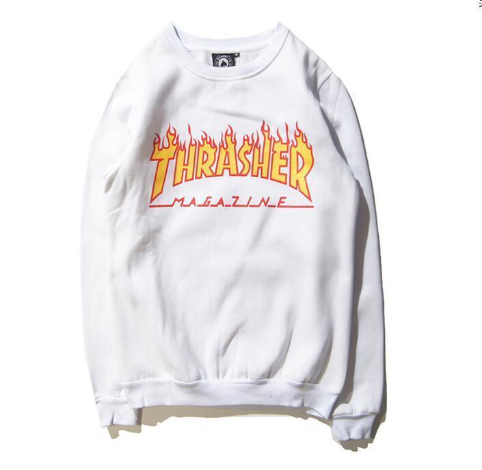Свитшот Thrasher Magazine Белая | Кофта Thrasher Magazine