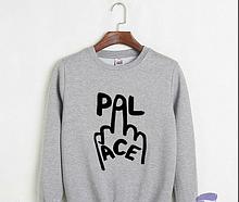 Світшот PALACE Logo Толстовка чоловіча | БИРКИ | Худі Палас сіра
