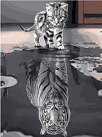 "Картина по номерам ""Кото-тигр"" 40*50см,крас.-акрил,кисть-3шт"