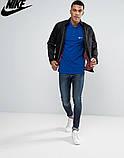 Футболка Поло Nike | Синяя тенниска Найк лого, фото 2