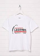 Детская футболка Gildan с надписью М Белая 1313511-М, КОД: 1477691