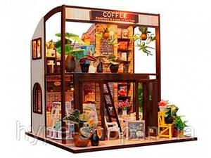 """3D Румбокс Кафе """"Coffee House"""" DIY DollHouse + защитный купол"""