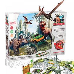 Автомобільний гоночний трек Magic Tracks Dinosaur (понад 144 деталей + додаткові аксесуари)