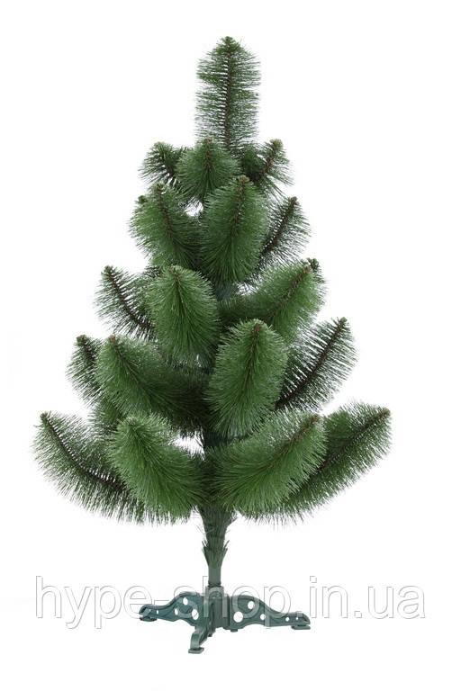 Искусственная Сосна 90 см. зеленая не распушенная