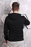 Худи Off-white черное с лентами-лампасами, унисекс, фото 2