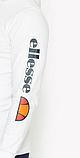 Худи Ellesse белое с логотипом, унисекс (мужское, женское, детское), фото 2