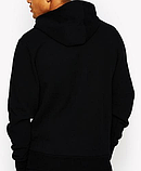 Худи Ellesse черное с лого, унисекс (мужское, женское, детское), фото 2