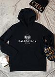 Худи Balenciaga Mode черное, белое, унисекс (мужское, женское, детское), фото 2