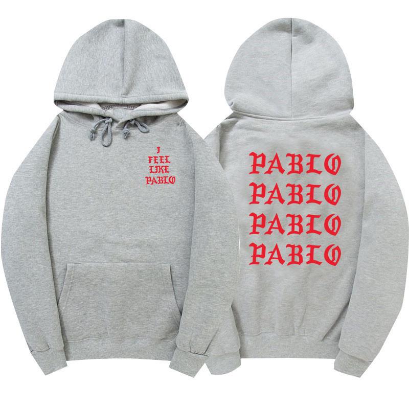 Худи Kanye West - I Feel Like Pablo серое с логотипом, унисекс (мужское, женское, детское)