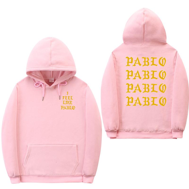 Худи Kanye West - I Feel Like Pablo розовое с лого, унисекс (мужское, женское, детское)
