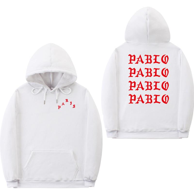 Худи Kanye West - I Feel Like Pablo Paris белое с лого, унисекс (мужское, женское, детское)