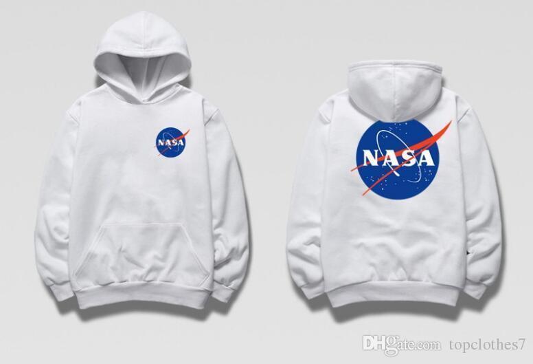 Худи NASA Two-Sided белое, унисекс (мужское, женское, детское)