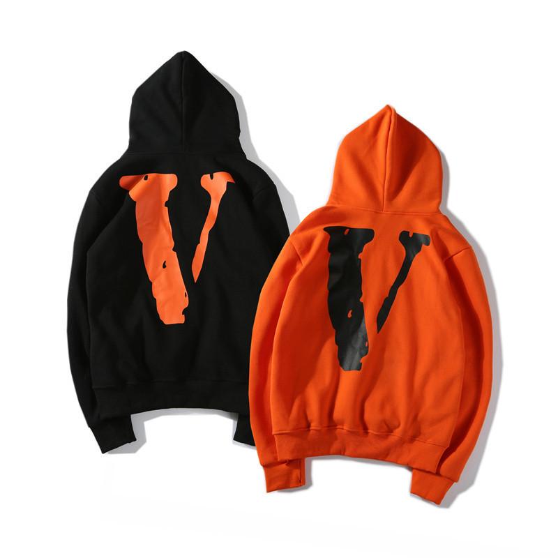 Худи Supreme / Vlone черное, оранжевое, унисекс (мужское, женское, детское)