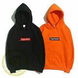 Худи Supreme / Vlone черное, оранжевое, унисекс (мужское, женское, детское), фото 2