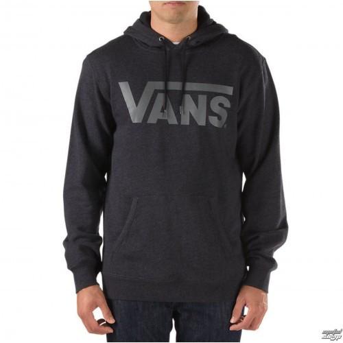 Худи Vans черное с серым логотипом, унисекс (мужское, женское, детское)