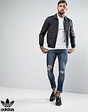Футболка Поло в стилі Adidas | Біла теніска Адідас, фото 2