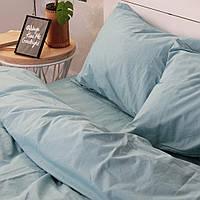 Комплект постельного белья Хлопковые Традиции Евро 200x220 Голубой PF041евро, КОД: 740713
