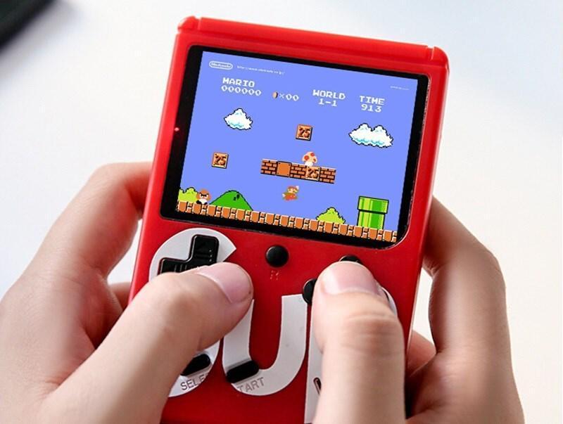 Ігрова приставка, ретро консоль SUP, 400 ігор dendy, red hm