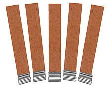 Деревянный фитиль с металлическим держателем высотой 7,5 см, ширина 1,2 см