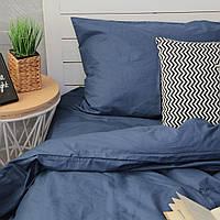 Комплект постельного белья Хлопковые Традиции Евро 200x220 Синий PF031евро, КОД: 353872