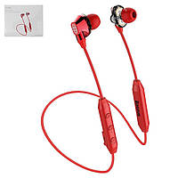 Гарнітура Baseus S10, вакуумна, бездротова, червона, micro-USB тип-B, з micro-USB кабелем тип-В, #NGS10-09