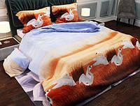 Семейный набор хлопкового постельного белья из Бязи Gold 154067 Черешенка BC4G154067, КОД: 1891490