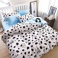 Семейный набор хлопкового постельного белья из Бязи Черешенка Gold 151393AB, КОД: 2396260