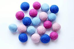 Набір шерстяних кульок Pugovichok Загадкова фіалка 16 шт SUN3945, КОД: 1014567