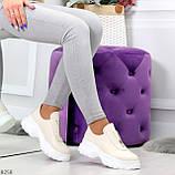 Удобные бежевые женские туфли натуральная кожа с молнией на низком ходу, фото 3