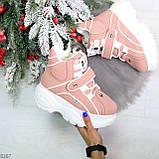 Мега крутые розовые женские спортивные ботинки на молнии на липучке 38-24см, фото 2