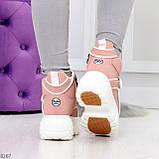 Мега крутые розовые женские спортивные ботинки на молнии на липучке 38-24см, фото 6