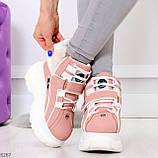 Мега крутые розовые женские спортивные ботинки на молнии на липучке 38-24см, фото 9