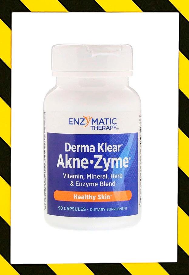 Enzymatic Therapy, Очищение кожи от Акне Прыщей, Derma  Akne-Zyme,  90 Capsules