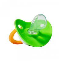 Пустышка силиконовая ортодонтическая Dydus SG 81 3+ green, фото 1