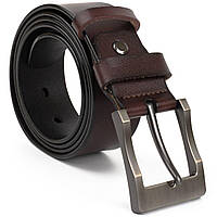 Ремінь чоловічий з затемненій пряжкою механіка Vintage 20317 Чорний, фото 1