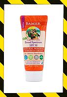 Badger Company, Солнцезащитный крем для детей с оксидом цинка, SPF30, мандарин и ваниль (87 ml)
