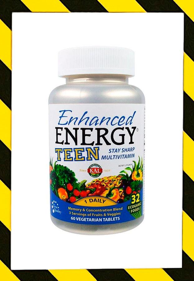 KAL, Мультивитамины Для улучшения памяти и концентрации, для подростков, 60 таблеток