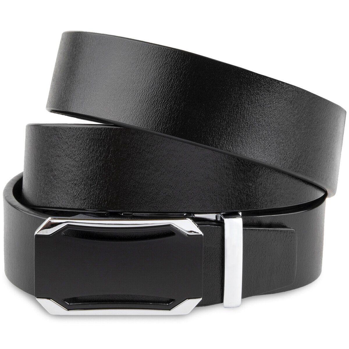 Ремень мужской с черной вставкой на пряжке Vintage 20255 Черный