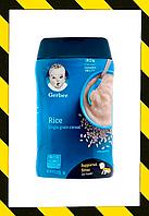 Gerber, Рисовая каша, однозерновая,  Детское питание и питание для младенцев (227 г), фото 1