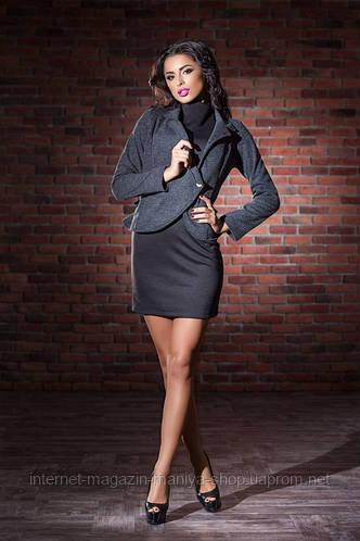 Комплект платье и пиджак 3 расцветки