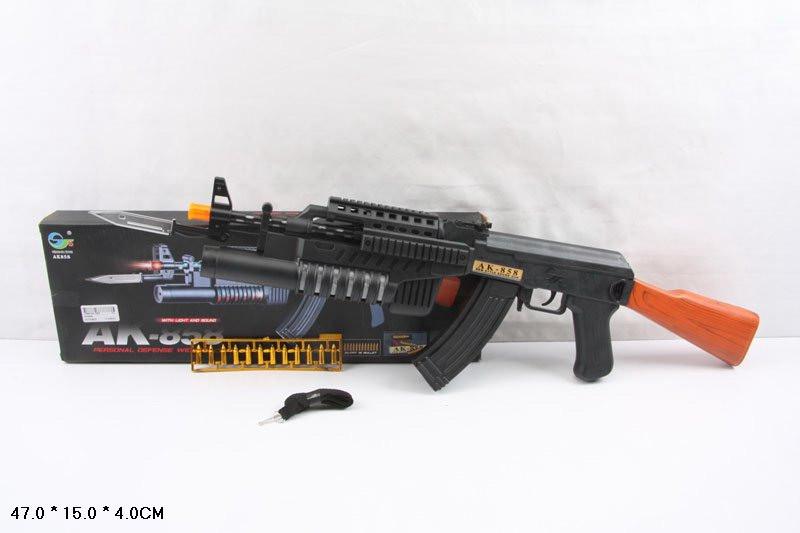 Автомат  AK858  штык-нож, в коробке 47154см - ИГРОДОМ в Днепре