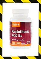 Jarrow Formulas, Пантотеновая кислота (витамин B5), 500 мг, 100 растительных капсул